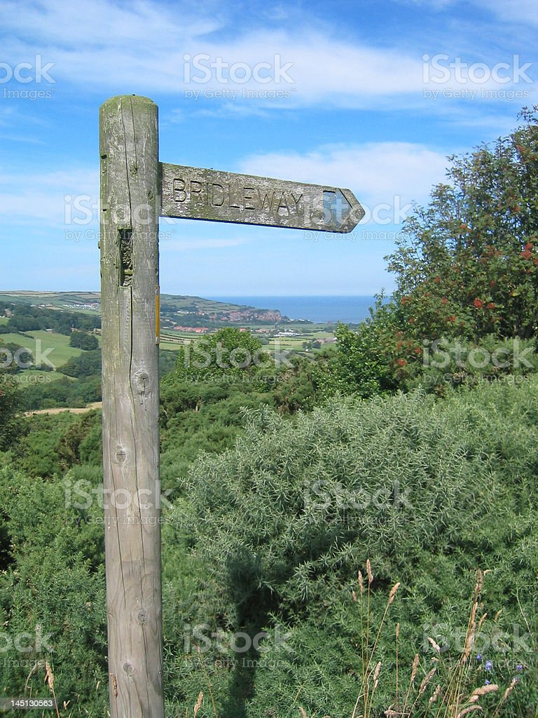 Bridleway To The Bay stock photo