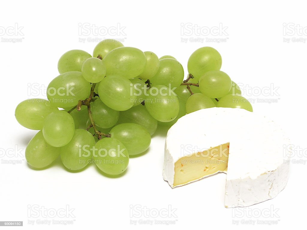 brie and grapes royalty-free stock photo