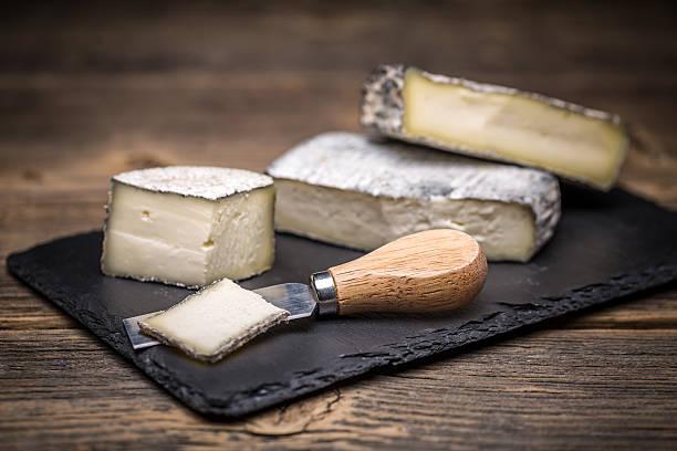 Brie cream cheese stock photo