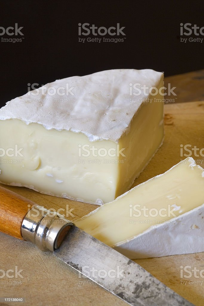 Brie & Knife Vt royalty-free stock photo