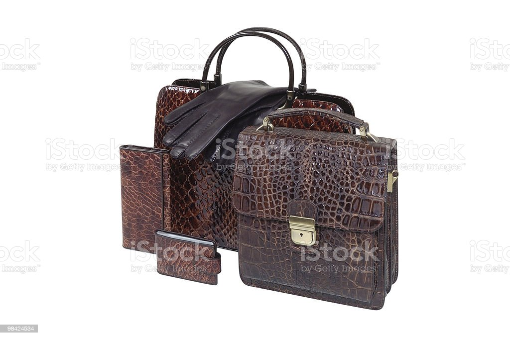 briefcase and accessories royalty-free stock photo
