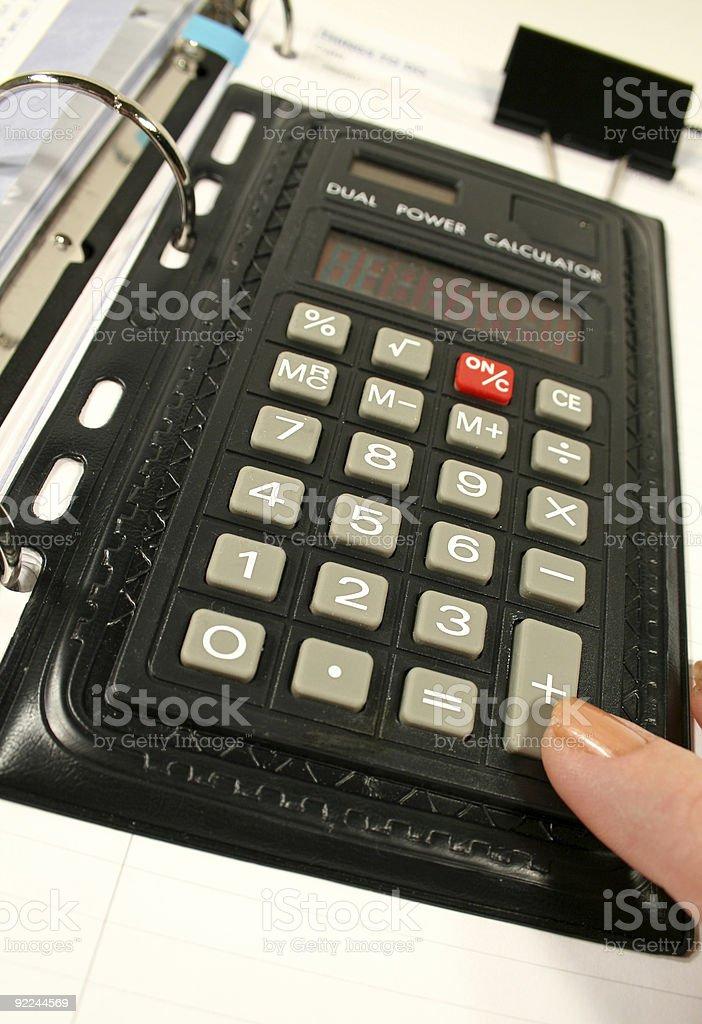 Briefcase Calculator royalty-free stock photo