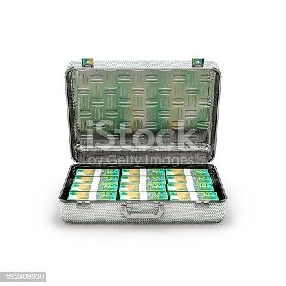 istock Briefcase ransom Australian dollars 592409630