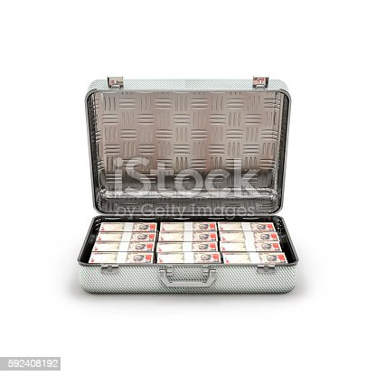 istock Briefcase ransom rupees 592408192