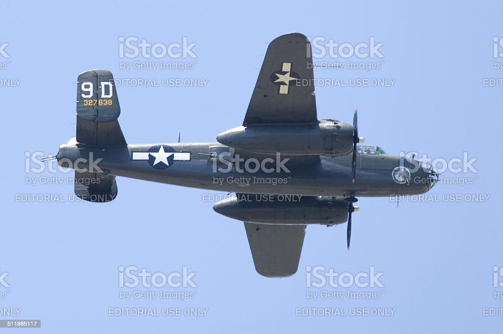 'Briefing Time'--Mitchell B-25 Medium Bomber stock photo