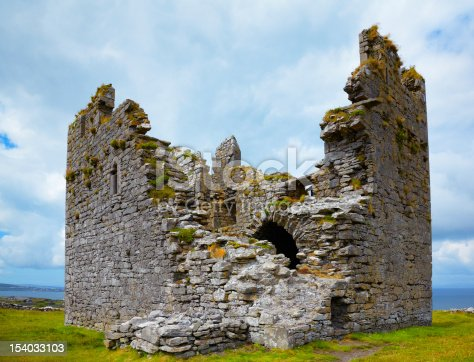 Exterior of O'Brien's Castle on Inisheer Island, Ireland.