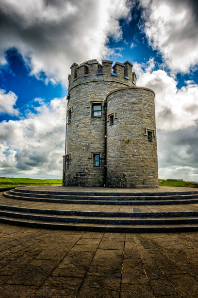 o'briens tower at cliffs of moher in ireland - the burren stock pictures, royalty-free photos & images