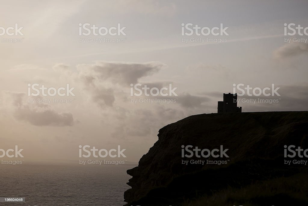 O'Brien's Tower, Cliffs of Moher, Ireland royalty-free stock photo