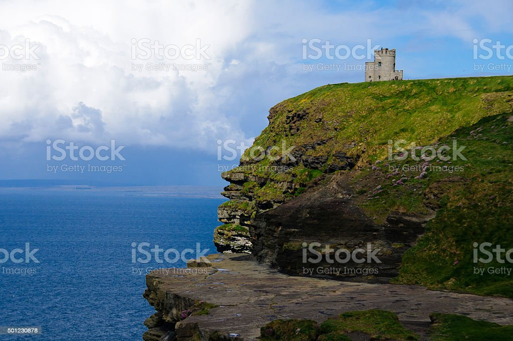 O'brien's Tower - Cliffs of Moher - Ireland stock photo