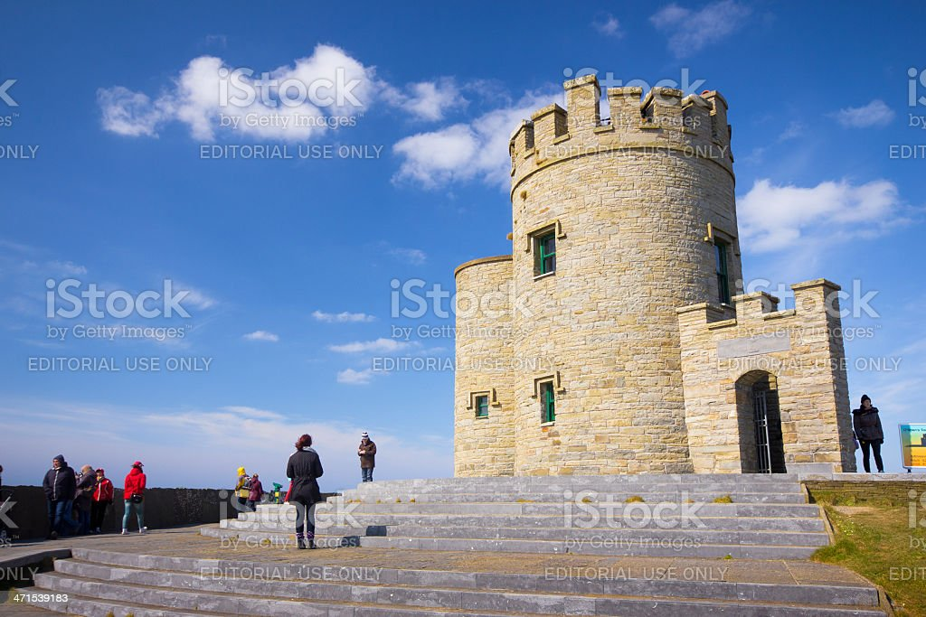O'Briens Tower Cliffs of Moher royalty-free stock photo