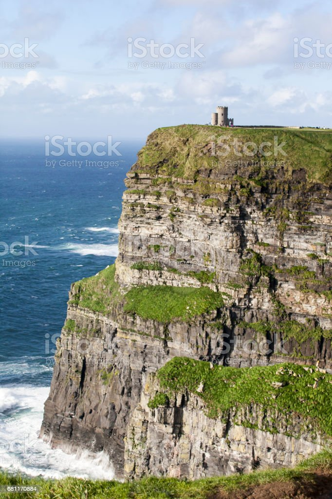 O'Brien's Tower - Cliffs of Moher stock photo