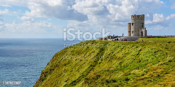 O'Brien's Tower in Cliffs of Moher, County Clare, Ireland