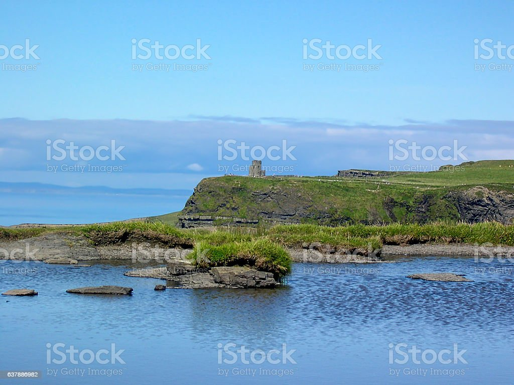 O'Brien's Tower in Cliffs of Moher, County Clare, Ireland stock photo