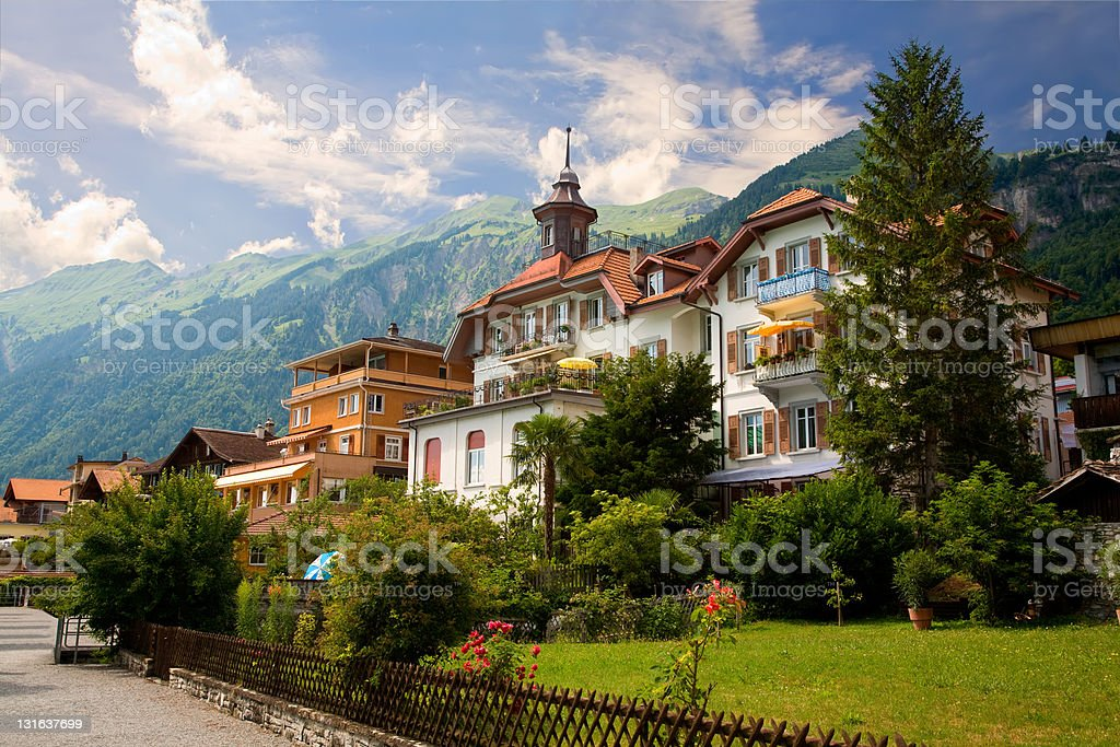 Brienz, canton of Berne, Switzerland stock photo