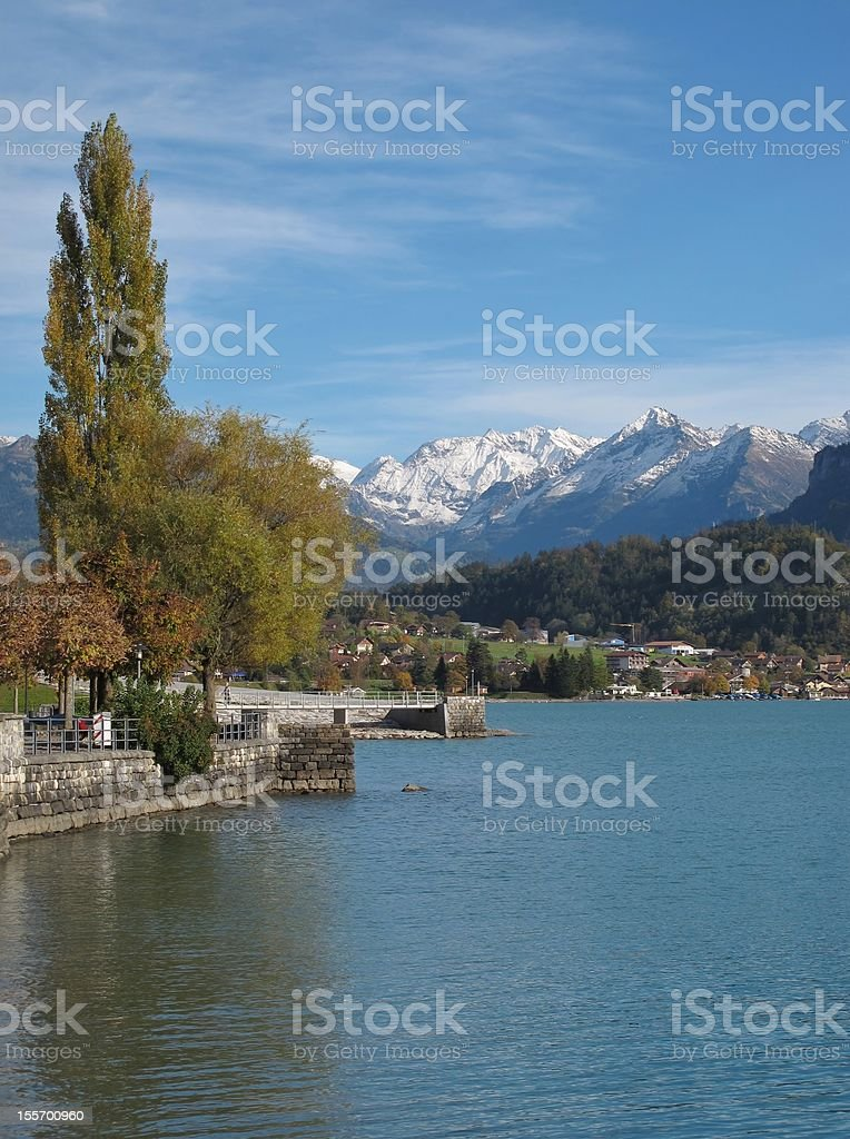 Brienz In The Autumn stock photo