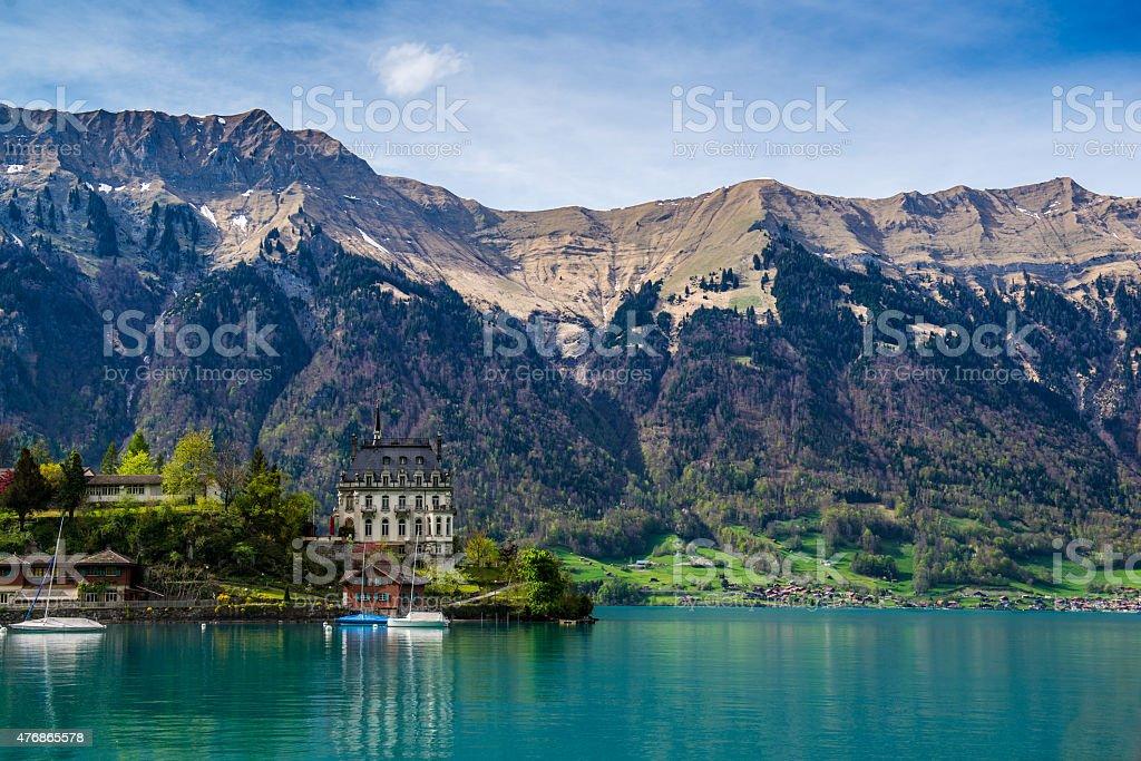 Brienz Lake, Interlaken region in Switzerland stock photo