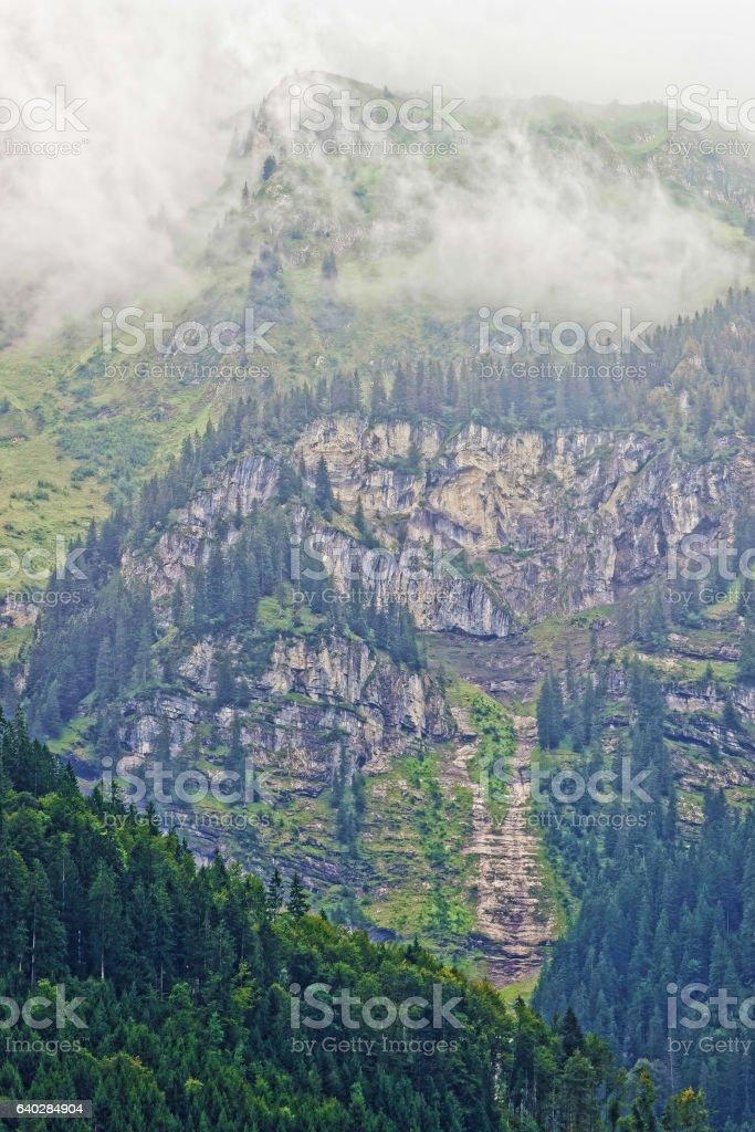 Brienzer Rothorn mountain Brienz in Bern in Switzerland stock photo