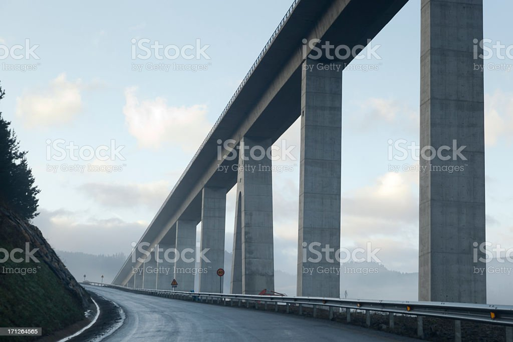 brigde and road stock photo