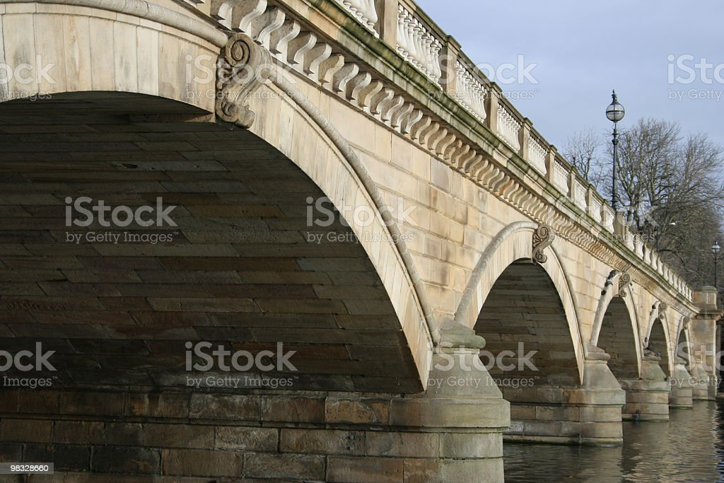 Brigdge over Serpentine, Hyde Park, London, UK stock photo