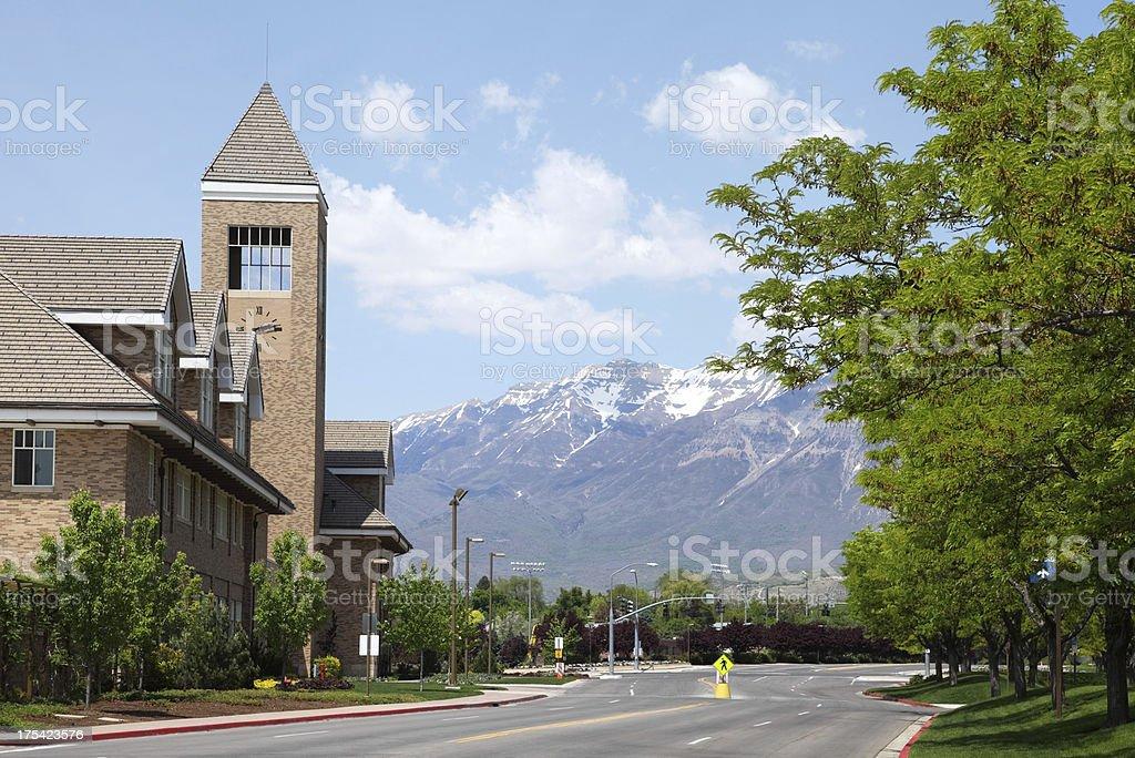 Brigham Young University stock photo