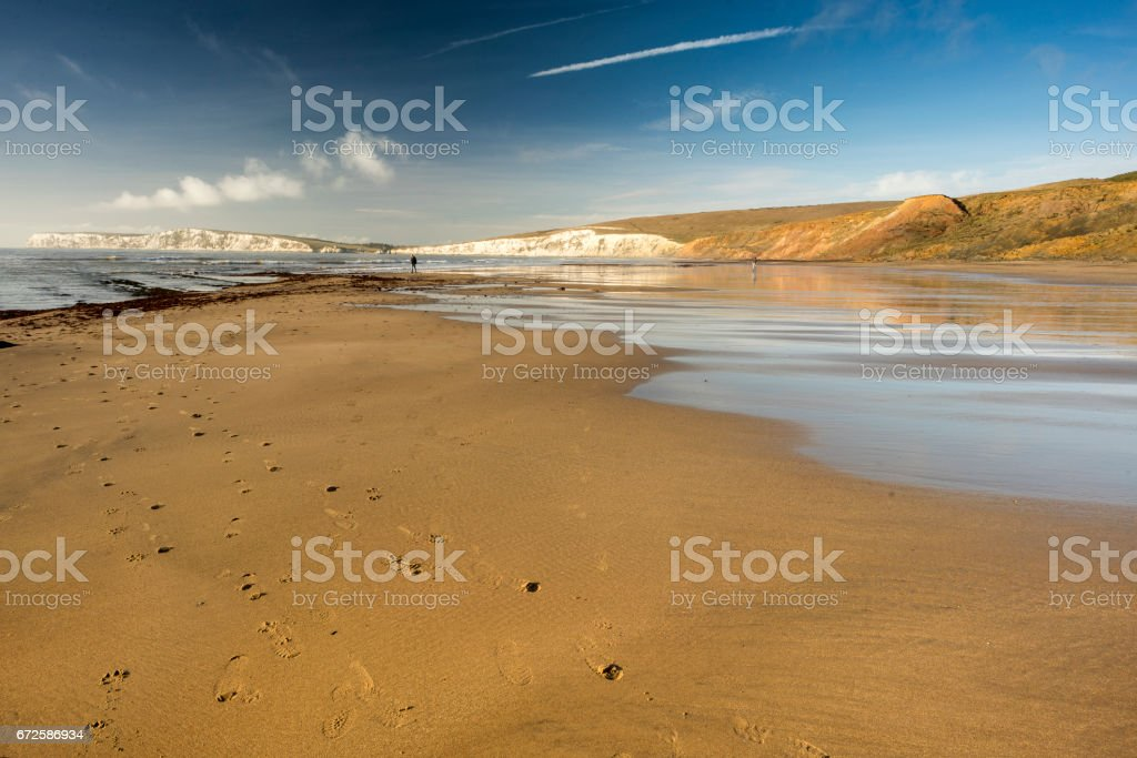 Brighstone Beach on the Isle of Wight, England stock photo