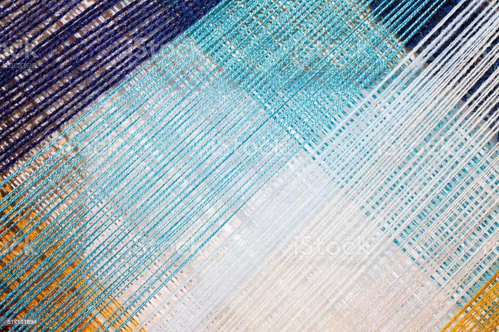 bright abstract background of colored thread stock photo