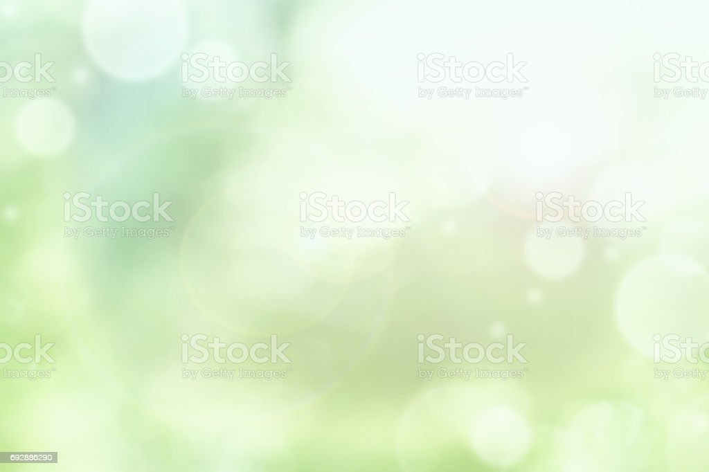 Bright Abstract of Blurred Green Summer Bokeh stock photo
