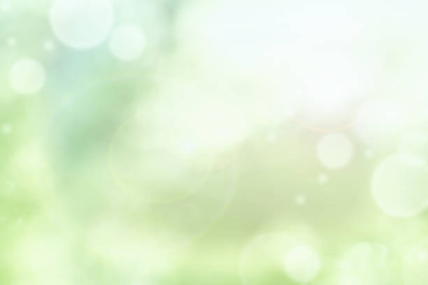 bright abstract of blurred green summer bokeh - soft focus stock photos and pictures