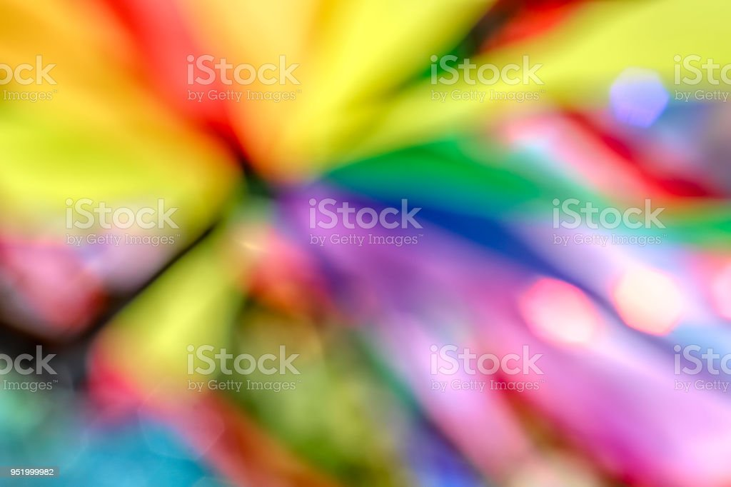 Bright abstract photo with bokeh soft focus hexagons stock photo