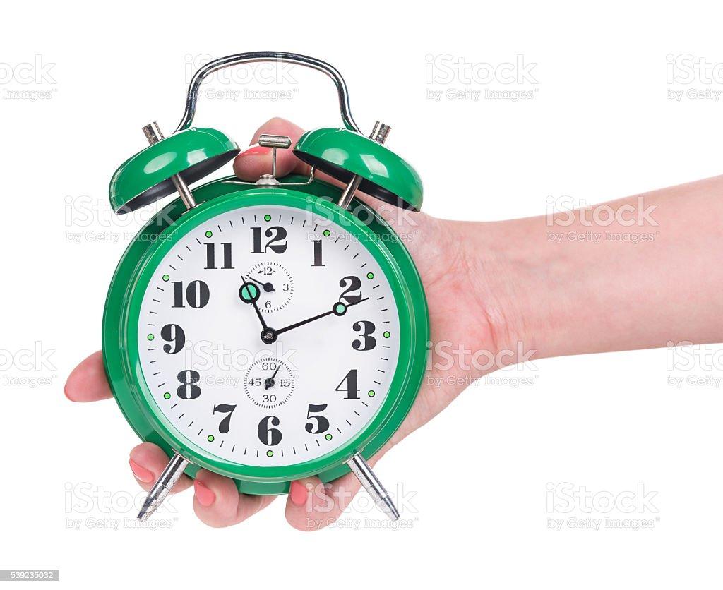 Bright alarm clock royalty-free stock photo