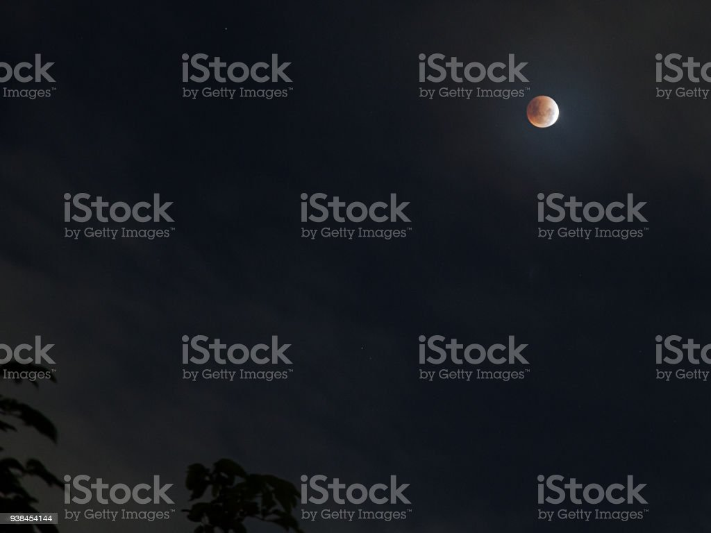 Bright and large fool Blue super moon at it is closest point to the...