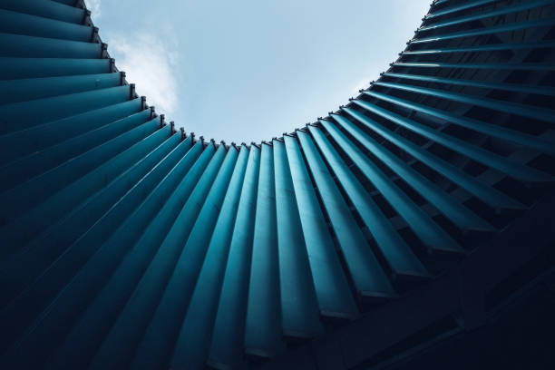 Bright and modern Architecture ceiling stock photo
