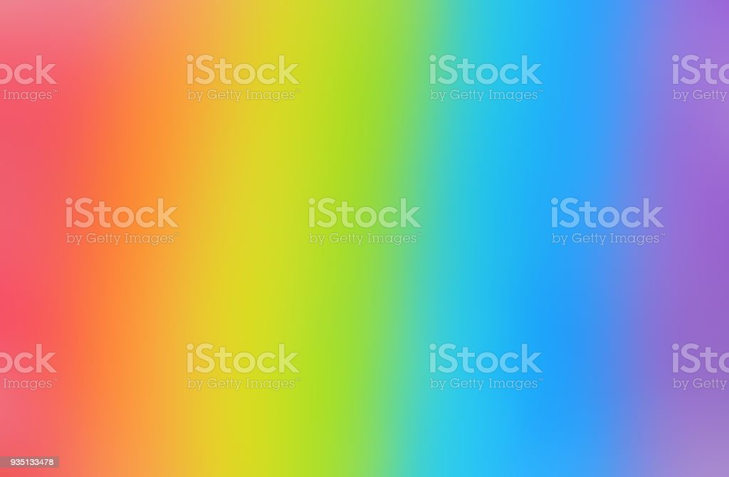 Bright and smooth rainbow background Bright and smooth rainbow background. Defocused image. Abstract Stock Photo