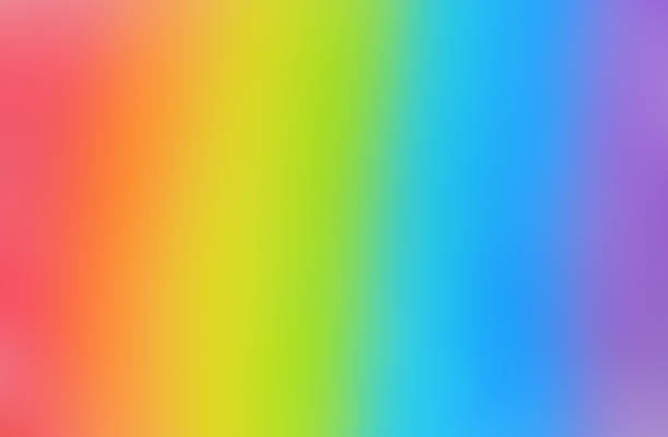 Bright and smooth rainbow background stock photo