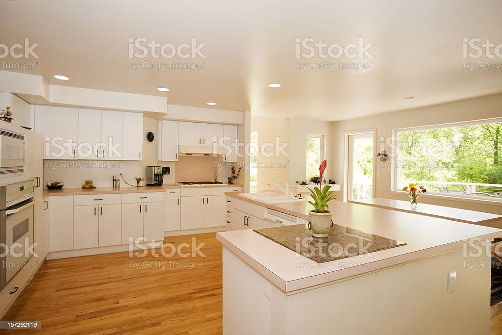 Bright and Spacious Kitchen stock photo