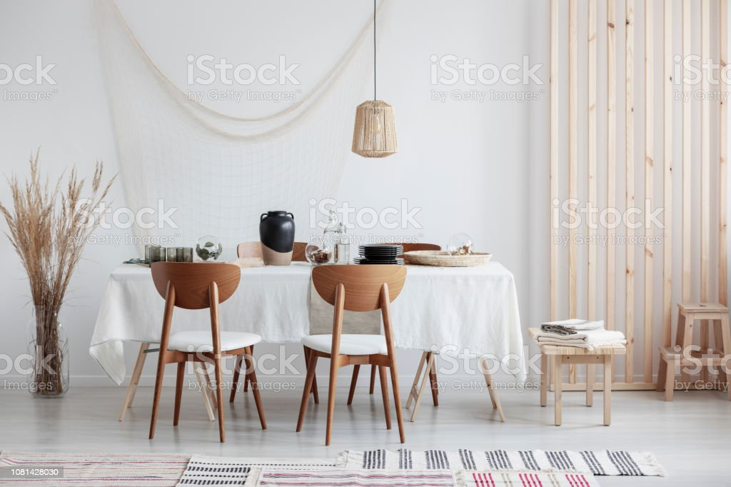 Brilliant Bright And White Dining Room With Wooden Furniture And Creativecarmelina Interior Chair Design Creativecarmelinacom