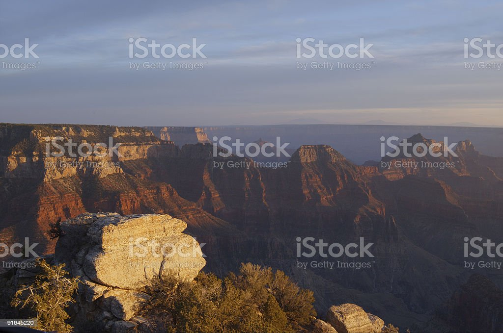 Bright Angel Viewpoint, Grand Canyon, Sunset royalty-free stock photo