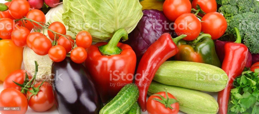 セット野菜の明るい背景 ストックフォト
