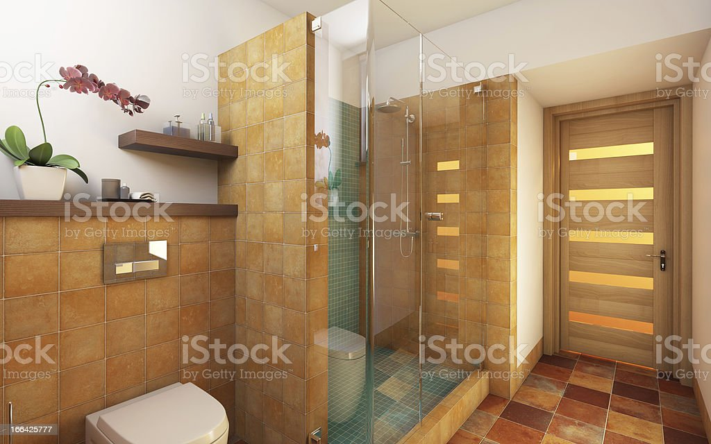 Bright Bathroom royalty-free stock photo