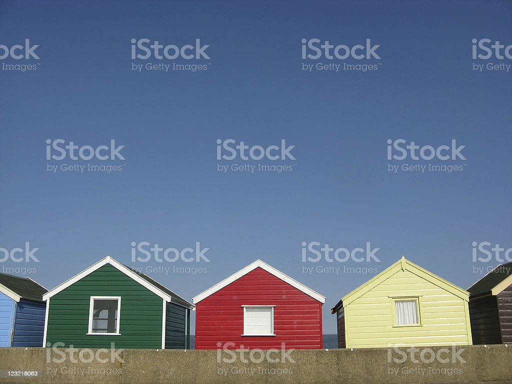 Des cabanes de plage en Angleterre - Photo