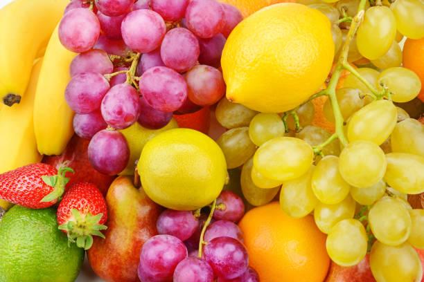 helle schöne hintergrund von reifen früchten. - grape sugar stock-fotos und bilder
