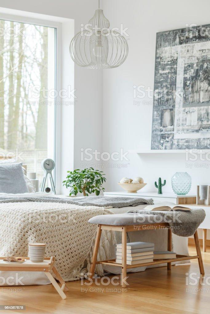 Quarto interior brilhante - Foto de stock de Almofada royalty-free