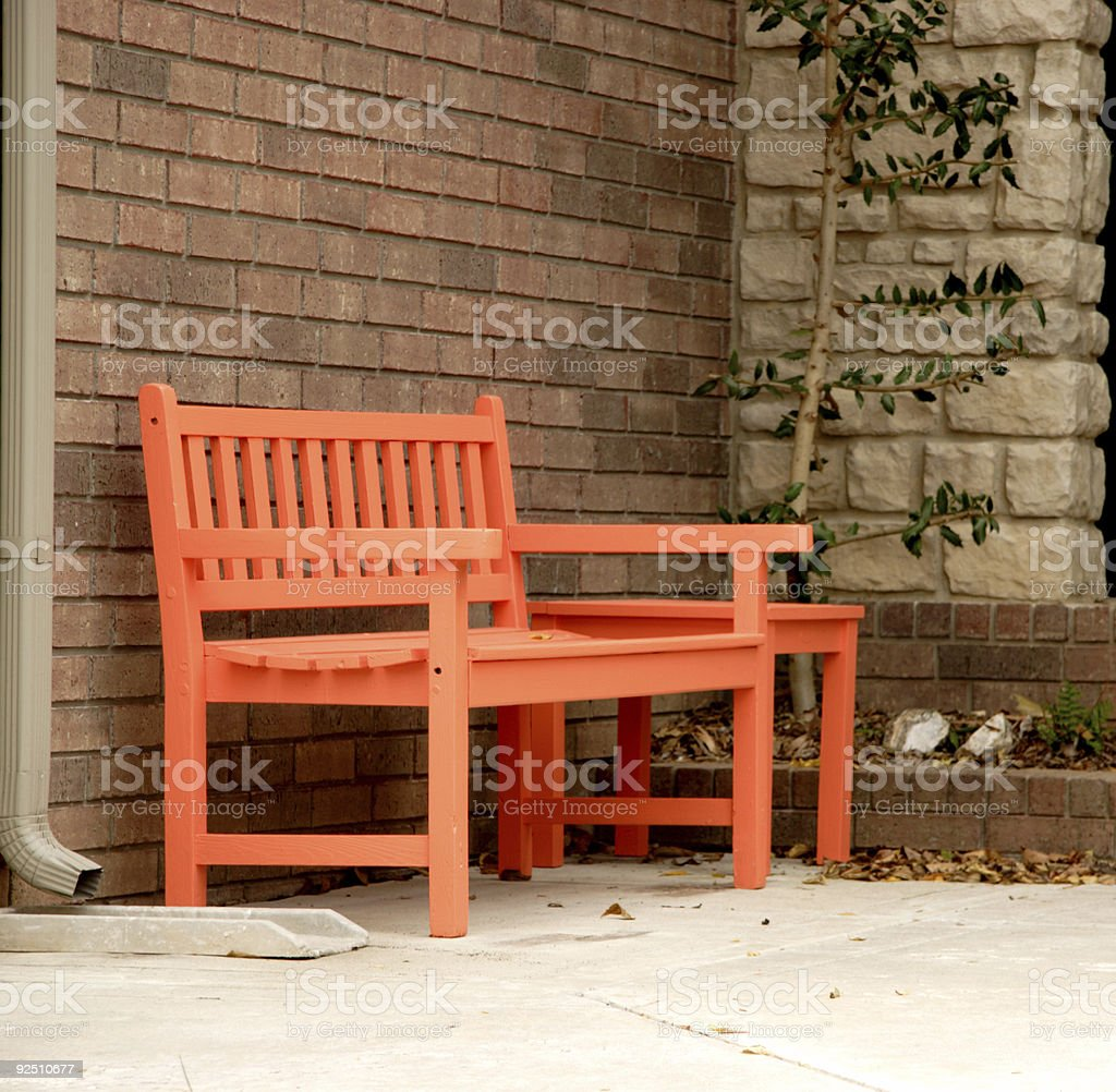 bright bench royalty-free stock photo