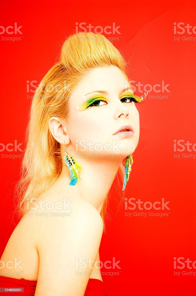 Bright Blondie royalty-free stock photo
