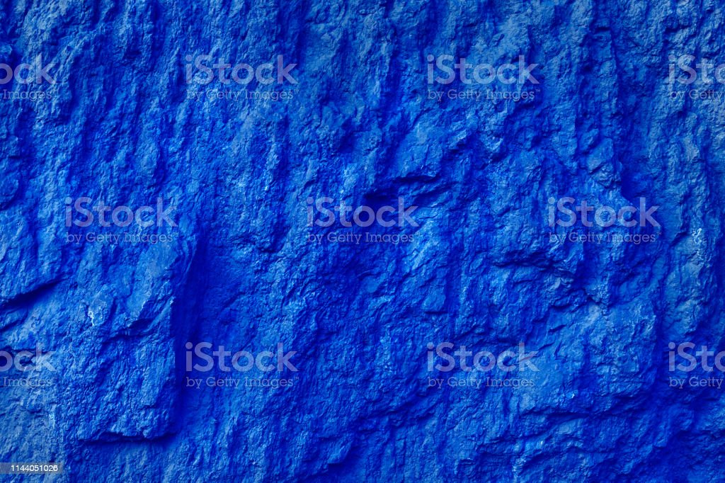 Bright Blue Background and Texture Of Organic Stone Surface, Abstract For Design stock photo