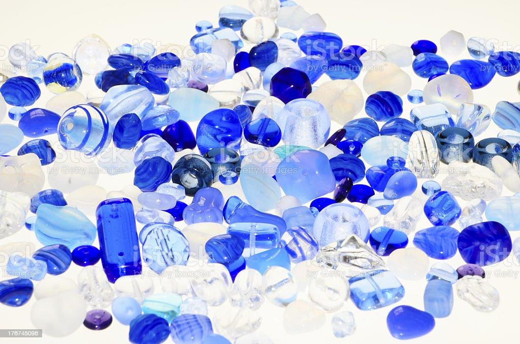 Bright Blue Beads royalty-free stock photo