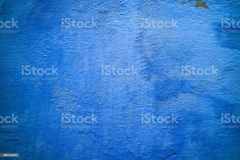 Brilhante azul muro de concreto perto acima, textura de verão - Foto de stock de Abstrato royalty-free