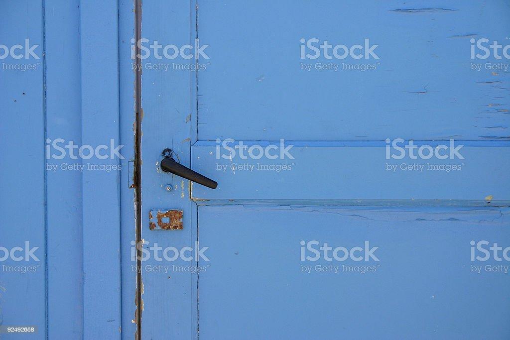 helle blaue Tür Lizenzfreies stock-foto