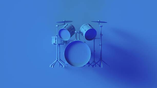 Bright Blue Drum Kit Bright Blue Drum Kit 3d illustration drum kit stock pictures, royalty-free photos & images