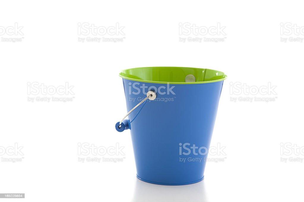 Bright Blue Green Bucket Pale stock photo